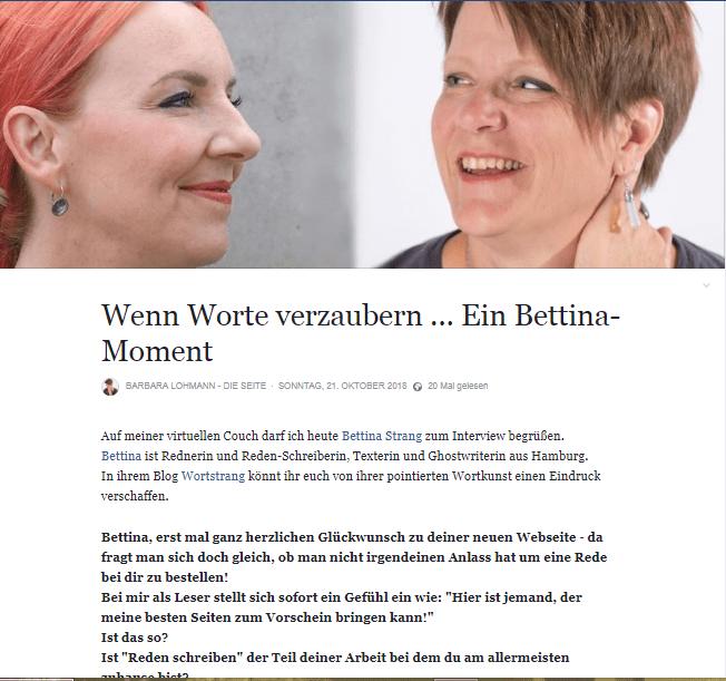 Bettina Strang Interview Schlüsselfragen