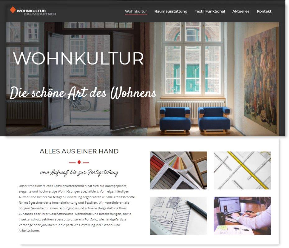 Baumgartner Webseite