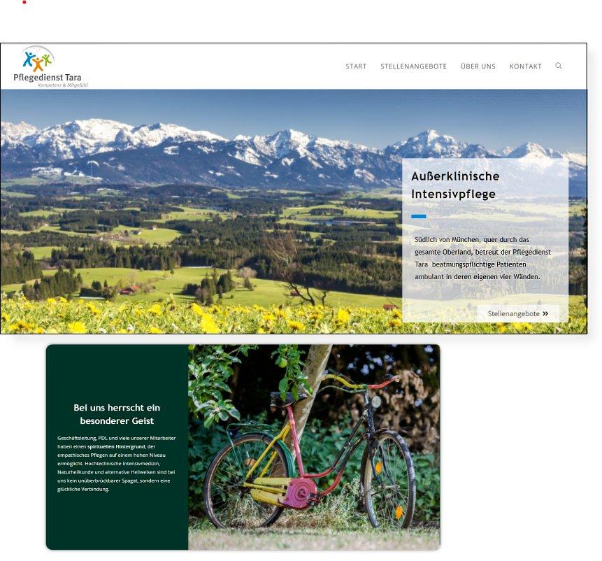 Pflegedienst Tara Webseite