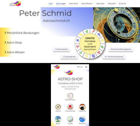 Astroschmid.ch Webseite
